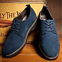 abordables Oxfords para Hombre-Hombre Zapatos de gamuza Cuero Sintético Primavera / Otoño Negocios Oxfords Negro / Marrón / Azul / Combinación / Al aire libre / Zapatos Confort