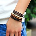 cheap Men's Bracelets-Men's Strand Bracelet Wrap Bracelet - Leather Personalized, Fashion Bracelet Brown For Street
