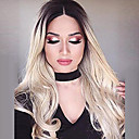 cheap Synthetic Capless Wigs-Synthetic Wig Wavy Blonde Synthetic Hair Blonde Wig Long Capless