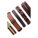 cheap Men's Bracelets-Men's Women's Leather Bracelet - Leather Rock, Fashion Bracelet Brown For Stage Going out
