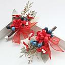 זול נעליים לטיניות-שיפון / תחרה / בד פרחים / קליפ לשיער עם 1 חתונה / אירוע מיוחד / יום הולדת כיסוי ראש