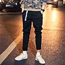 cheap Men's Cufflinks-Men's Punk & Gothic Street chic Plus Size Cotton Slim Chinos Pants - Solid Colored