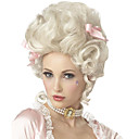cheap Party Gloves-Synthetic Wig Cosplay Wig white blonde marie antoinette princess wig for halloween costume Curly Synthetic Hair Women's Medium Length Capless White