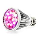 billige LED Økende Lamper-290-330lm E14 GU10 E26 / E27 Voksende lyspære 12 LED perler Høyeffekts-LED Naturlig hvit UV Blå Rød 85-265V