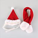 billige Hundepleiemateriell-Kat Hund Hodetørklær og hatter Hundeklær Ensfarget Rød Bomull Kostume For kjæledyr Fest Fritid/hverdag Cosplay Sport Jul