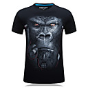 cheap Motorcycle & ATV Parts-Men's Sports Active Plus Size Cotton Slim T-shirt - Animal Print Round Neck / Short Sleeve