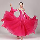 cheap Wedding Wraps-Ballroom Dance Dresses Women's Performance Polyester Spandex Crystals / Rhinestones Sleeveless Dress Sleeves Neckwear