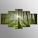 זול הדפסים-הדפסי בד מתוחים מופשט (אבסטרקטי), חמישה פנלים בַּד אופקי דפוס דקור קיר קישוט הבית