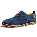 cheap Men's Slip-ons & Loafers-Men's Formal Shoes Microfiber Fall / Winter Comfort Oxfords Blue / Camel / Khaki / Wedding / Party & Evening / Suede Shoes
