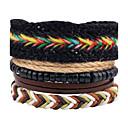 cheap Men's Bracelets-Men's Women's Strand Bracelet Wrap Bracelet Leather Bracelet - Leather Personalized, Vintage, Bohemian Bracelet Black For Daily Stage Formal
