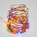 cheap LED Globe Bulbs-10m String Lights 100 LEDs SMD 0603 Warm White / RGB / White Remote Control / RC / Dimmable / Waterproof <5 V / IP65