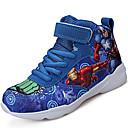 baratos Sapatos de Menina-Para Meninos Sapatos Tule / Tecido Outono Conforto / Curta / Ankle Tênis Basquete Cadarço para Cinzento / Vermelho / Azul