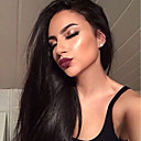 cheap Synthetic Capless Wigs-Remy Human Hair Full Lace Wig Straight Wig 180% Natural Hairline / African American Wig / 100% Hand Tied Women's Short / Medium Length / Long Human Hair Lace Wig