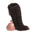 olcso Emberi hajból készült parókák-Emberi haj Tüll homlokrész Csipke eleje Paróka Brazil haj Göndör Paróka Tincselve 150% Haj denzitás Természetes hajszálvonal Fekete hölgyeknek Női Rövid Közepes Hosszú Emberi hajból készült parókák