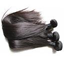 olcso Természetes színű póthajak-3 darab Fekete Brazil haj Emberi haj sző Póthajak 0.3kg