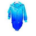 cheap Synthetic Capless Wigs-Figure Skating Top Men's / Boys' Ice Skating Shirt Pale Blue Spandex Rhinestone High Elasticity Performance Skating Wear Handmade Solid