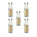 billiga LED-cornlampor-5pcs 3W 240lm G9 LED-lampor med G-sockel T 51 LED-pärlor SMD 2835 Varmvit / Vit 220-240V / RoHs