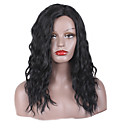 cheap Costume Wigs-Synthetic Wig Curly / Afro Synthetic Hair Middle Part / African American Wig Black Wig Women's Long Capless