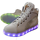 cheap Women's Sneakers-Women's Shoes PU(Polyurethane) Fall / Winter Comfort / Novelty / Light Up Shoes Flats Flat Heel Round Toe Sparkling Glitter / Lace-up
