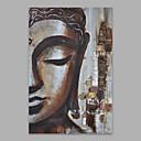 זול ציורי אנשים-ציור שמן צבוע-Hang מצויר ביד - אנשים אומנותי בַּד