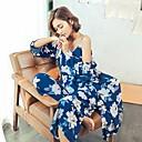 ieftine Sutiene Damă-Pentru femei Cu Bretele Costume Pijamale - Imprimeu, Floral