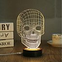 cheap Night Lights-1 Set, Popular Home Acrylic 3D Night Light LED Table Lamp USB Mood Lamp Gifts, Skull