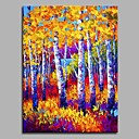 cheap Landscape Paintings-Oil Painting Hand Painted - Landscape Artistic / Rustic / Modern / Contemporary Canvas / Stretched Canvas