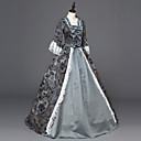 cheap Historical & Vintage Costumes-Rococo Lace Up Victorian Costume Women's Dress Party Costume Masquerade Gray Vintage Cosplay Satin Long Sleeve Floor Length Halloween Costumes