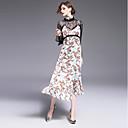 preiswerte Synthetische Perücken ohne Kappe-Damen Hülle Kleid - Spitze Druck Midi Ständer