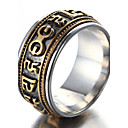 cheap Bracelets-Men's Band Ring - Titanium Steel Luxury, Vintage, Punk 8 / 9 / 10 / 11 / 12 Gold / Silver For Birthday Gift Daily
