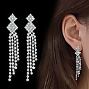 cheap Earrings-Women's AAA Cubic Zirconia Drop Earrings - Cubic Zirconia Drop Fashion, Elegant Silver For Wedding / Party