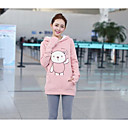 cheap Microphones-Women's Long Sleeves Cotton Long Hoodie Print