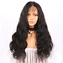 cheap Human Hair Wigs-Human Hair Glueless Full Lace Full Lace Wig Body Wave Wig with Baby Hair 130% Hair Density Natural Hairline For Black Women Women's Long Human Hair Lace Wig ELVA HAIR