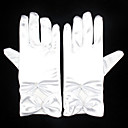 cheap Party Gloves-Spandex Wrist Length Glove Bridal Gloves Party/ Evening Gloves With Bowknot Pearl Ruffles