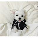abordables Ropa para Perro-Perro Pijamas Ropa para Perro Británico Negro Rosa Azul Claro Seda Disfraz Para Primavera & Otoño Invierno Hombre Mujer Casual / Diario
