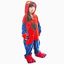 baratos Pijamas Kigurumi-Crianças Pijamas Kigurumi Spider Pijamas Macacão Flanela Cosplay Para Meninos e meninas Pijamas Animais desenho animado Dia das Bruxas Festival / Celebração