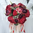 "levne Svatební kytice-Svatební kytice Kytice Svatební Polyester 25 cm (cca 9,84"")"