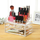 billige Bokser, vesker og potter til kosmetikk-Sminkeredskap Kosmetikk- oppbevaring Sminke Plast Kvadrant Daglig kosmetisk Pleieutstyr