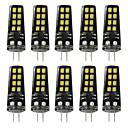 cheap Night Lights-BRELONG® 10pcs 3W 200lm G4 LED Bi-pin Lights 16 LED Beads SMD 2835 Warm White White 12V