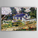 cheap Landscape Paintings-Oil Painting Hand Painted - Landscape Modern / Contemporary Canvas