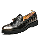 رخيصةأون أحذية أوكسفورد للرجال-للرجال أحذية رسمية المواد التركيبية خريف / شتاء المتسكعون وزلة الإضافات أسود / بني / الحفلات و المساء