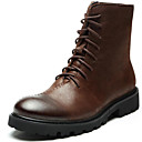 cheap Men's Boots-Men's Bootie Nappa Leather Fall / Winter Boots Booties / Ankle Boots Black / Brown / Party & Evening