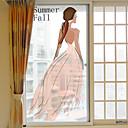 olcso Fóliák & matricák ablakra-Ablakfólia és matricák Dekoráció Nő Art Deco PVC / Βινύλιο Ablak matrica / Nappali