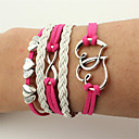 cheap Men's Bracelets-Men's / Women's Wrap Bracelet / Leather Bracelet - Leather Heart, Infinity Bracelet Red For Christmas / Wedding / Party