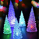 cheap Birthday Home Decorations-LED Battery Power lamp 7 Colour changing Night Light Desk Table Top Christmas Tree Decoration Festive Party