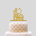cheap Cake Toppers-Cake Topper Wedding Hearts Paper Wedding with 1 PVC Bag