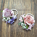 cheap Wedding Garters-Wedding Flowers Wrist Corsages Wedding Polyester 3.94 inch