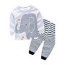 cheap Baby Boys' One-Piece-Boys' Stripe Clothing Set, Cotton Spring Fall Long Sleeves Stripes White