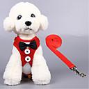 baratos Colares, Coleiras e Peitorais para Cães-Gato Cachorro Arreios Respirável Dobrável Sólido Terylene Preto Vermelho