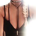 זול שרשרת אופנתית-בגדי ריקוד נשים ארוך / פְּלָצוּר שרשראות מחרוזת / תליונים - מותאם אישית, ארופאי, אופנתי שחור, אפור, חום שרשראות עבור Party, יומי, קזו'אל
